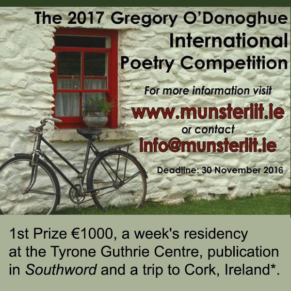 رقابت بین المللی شعر Gregory O'Donoghue (شاعر ایرلندی) سال ۲۰۱۷