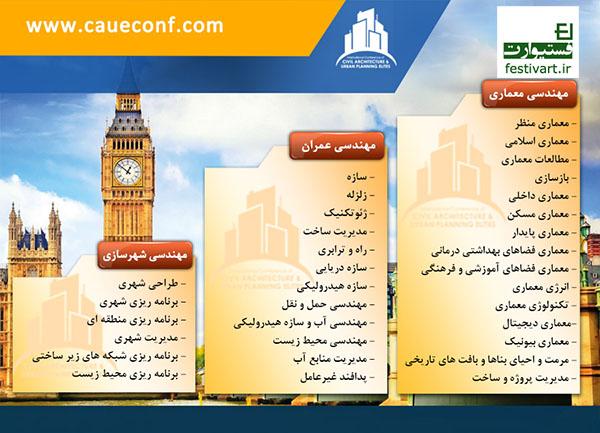فراخوان مقاله دومین کنفرانس بین المللی نخبگان عمران،معماری و شهرسازی در لندن