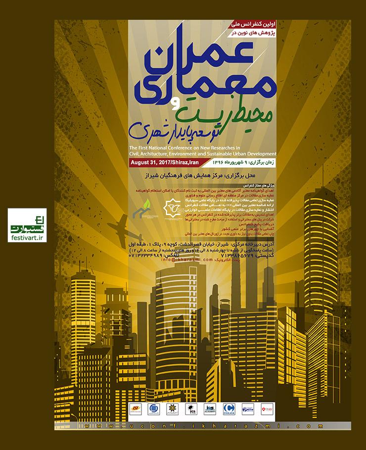 فراخوان مقاله اولین کنفرانس ملی پژوهش های نوین در عمران، معماری ، محیط زیست و توسعه پایدار شهری