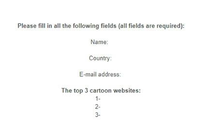 فراخوان انتخاب بهترین سایت کارتون و کاریکاتور دنیا