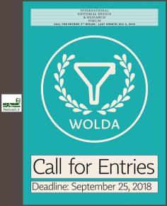 فراخوان نهمین دوره رقابت طراحی لوگو WOLDA 2018