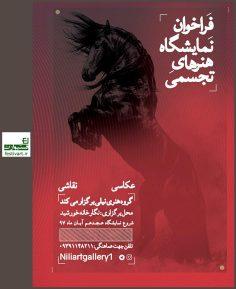فراخوان نمایشگاه عکاسی، نقاشی و حجم گروه هنری نیلی با موضوع آزاد