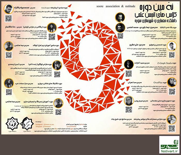 فراخوان نهمین دورهی کلاس های انجمن علمی دانشکده معماری و شهرسازی سوره