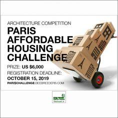 فراخوان رقابت بین المللی طراحی خانه ارزان قیمت پاریس ۲۰۱۹
