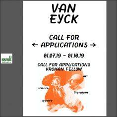 فراخوان بورسیه رزیدنسی آکادمی Jan van Eyck و بنیاد Vroman هلند