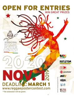 فراخوان رقابت بین المللی طراحی پوستر موسیقی Reggae ۲۰۲۰
